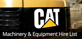 Machinery & Equipment Hire List